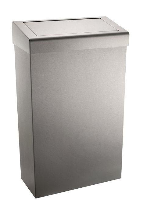 Stainless Steel Flap-lid Waste Bin 30 Ltr