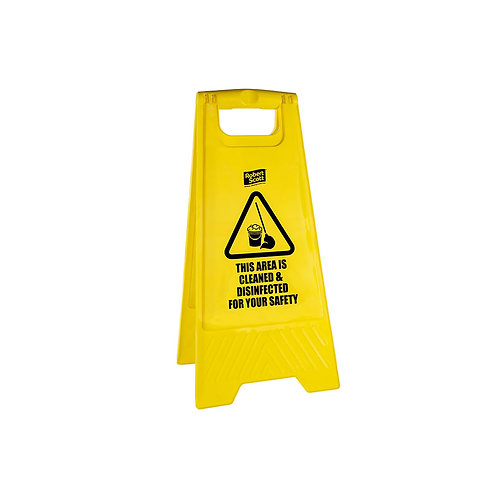 'Area Clean & Disinfected' Safety Sign
