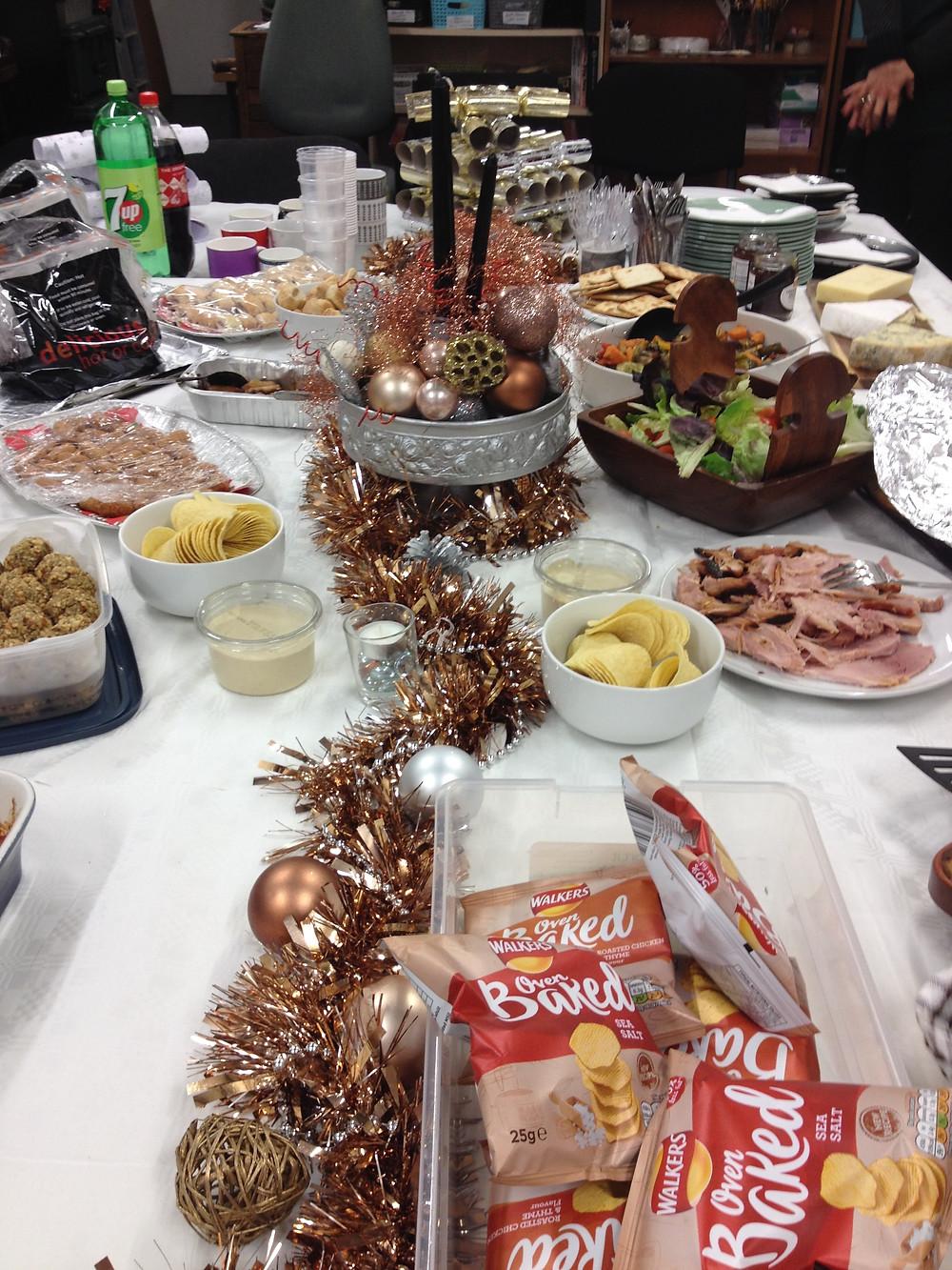 Festive Christmas lunch table!