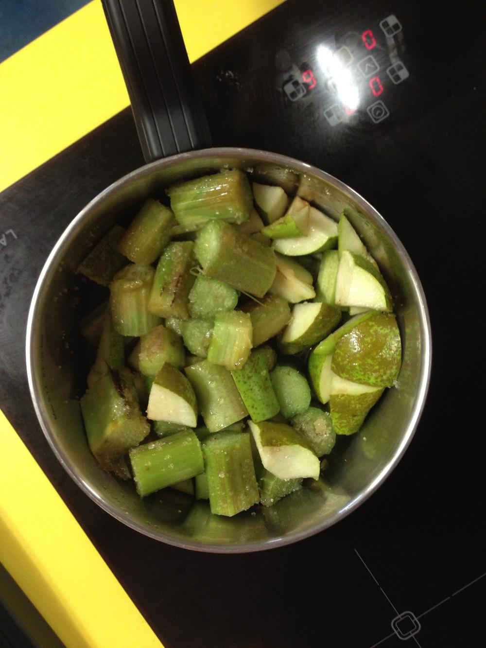 Rhubarb and pears