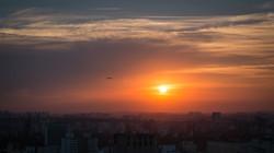 Smog Sunset Sao Paolo