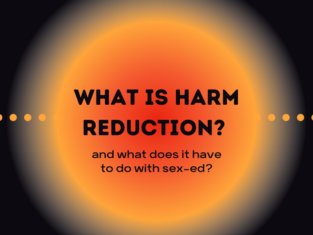 Harm Reduction, what's that? And what's it got to do with Sex Education?