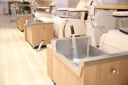 足を守る温水設備