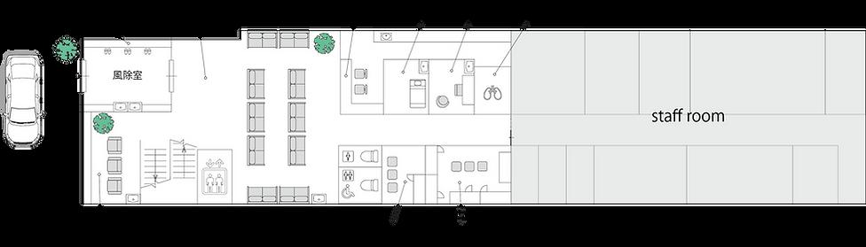 1F岸辺透析室(白黒).png