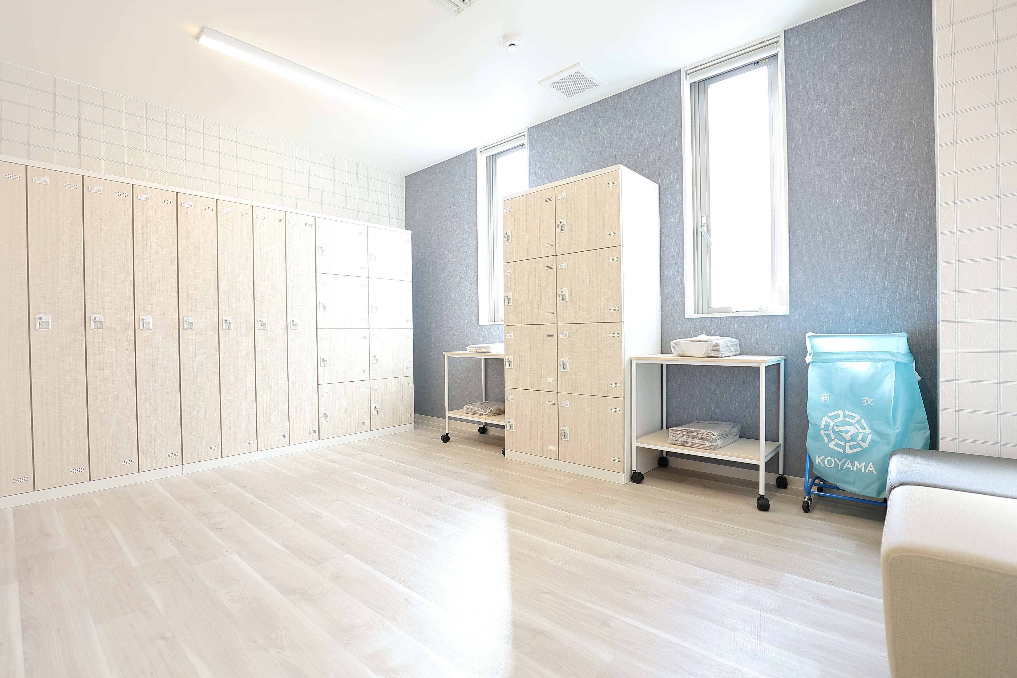 透析患者様用の更衣室