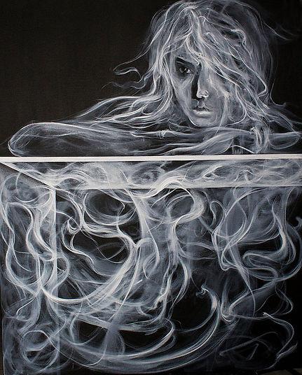 Smoky girl, Oil on canvas, 60_x 48_.jpg