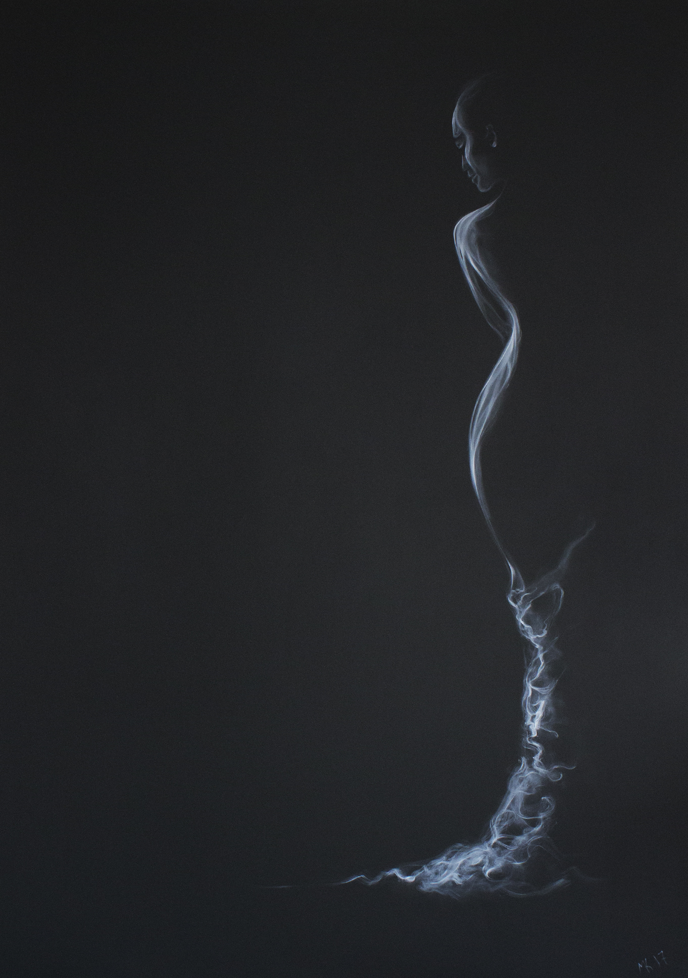 Mysterious Lady in smoke- Mher Khach