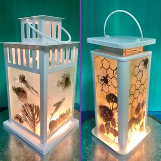 Glass Silkscreen Lanterns