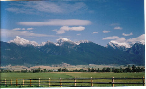 Mission Mountains in Montana