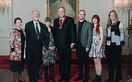 Philip Norman and family at CNZM investiture