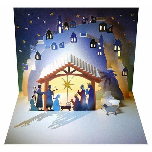Christmas Card, 3D Pop Up Nativity Scene