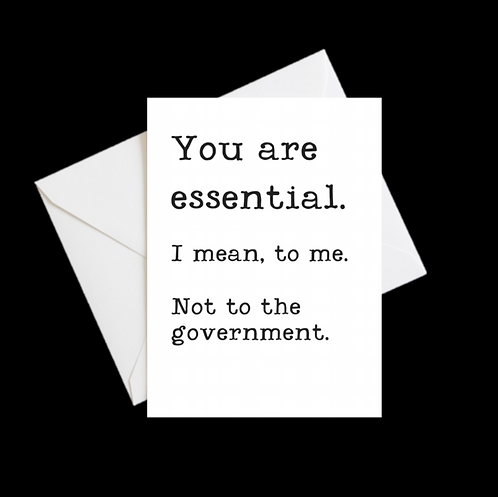 You Are Essential 2020 Greeting Card