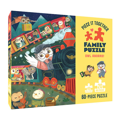 Owl Aboard! Piece It Together Family Puzzle