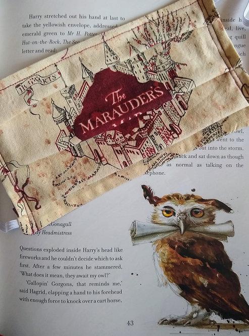 Harry Potter Marauder's Map Face Mask