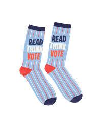Read, Think, Vote Socks