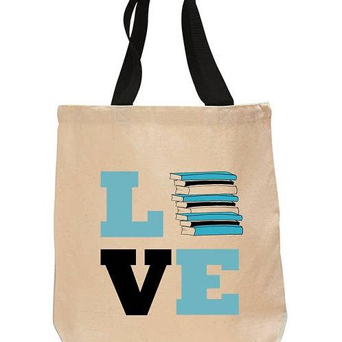 Love Books Cotton Tote Bag