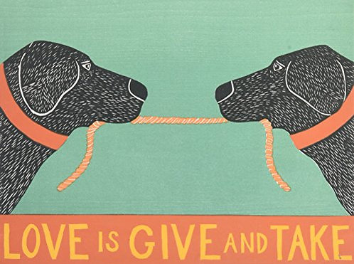 Love is Give and Take Note Cards