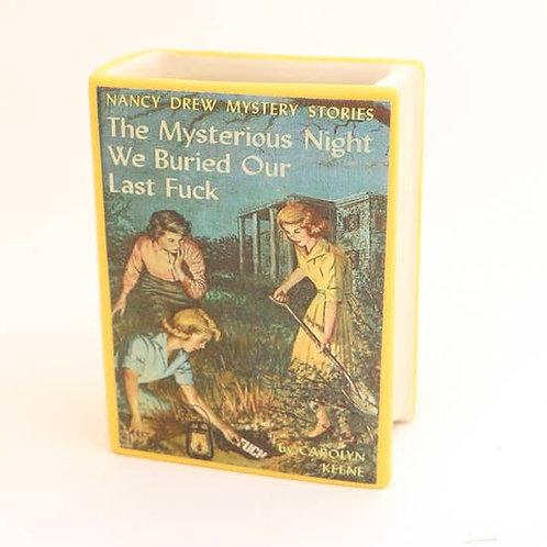 Nancy Drew Parody Book Shaped Pencil Container, Mature