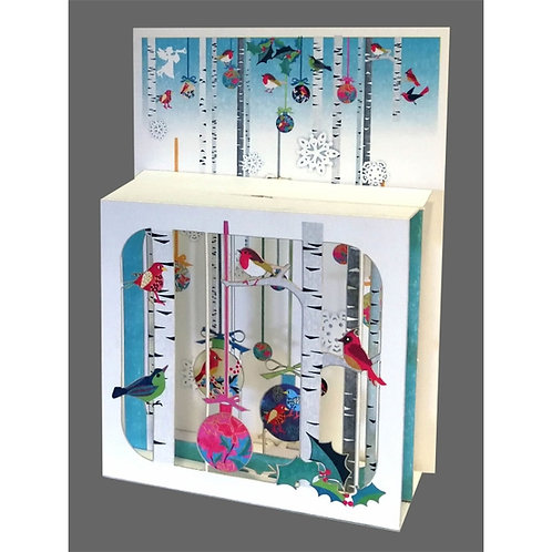 3D Pop Up Holiday Card with Birds
