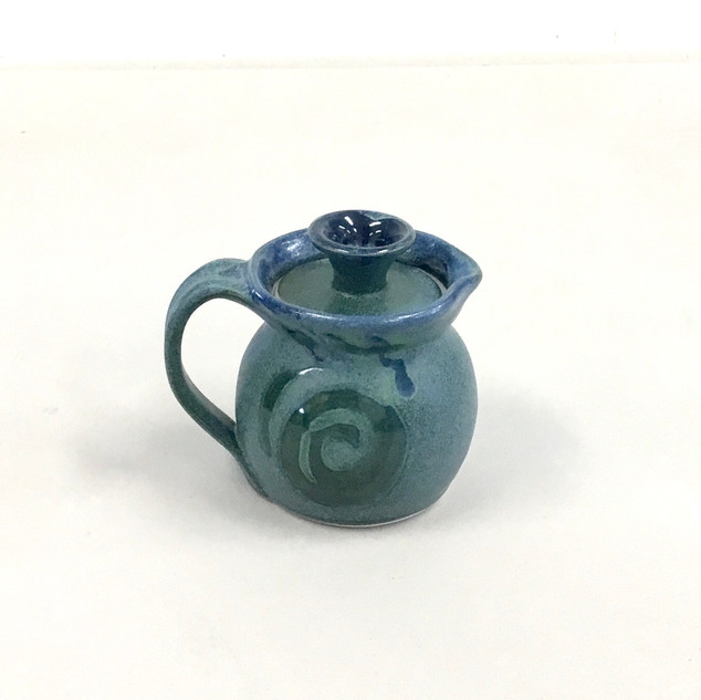 Lidded Pitcher-Porcelain Clay