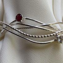 ruby and white zircon cuff bracelet.JPG