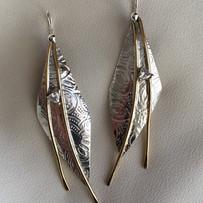 custom earrings - repurposed diamonds fr