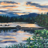 Sunset at Barville Pond $275