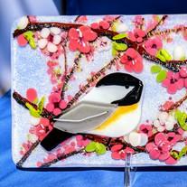 MSA514 $145 Cherry Blossom Chickadees  3