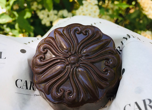 Mazapán con chocolate 40 gr.