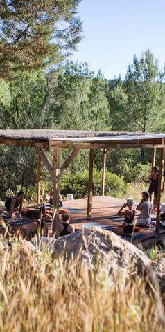 yoga deck meditation, silence and peace