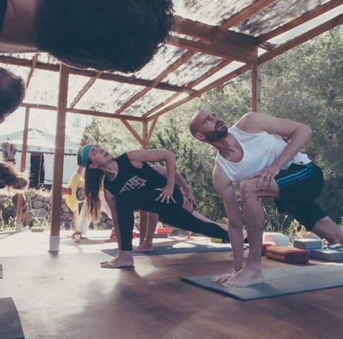stretch on our yoga deck!