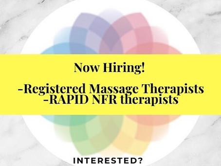 Hiring: Registered Massage Therapists!