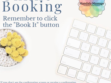 Online Booking - Remember to click Book It!
