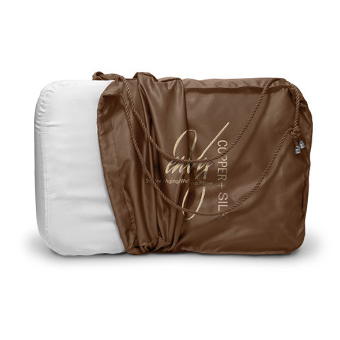 enVy COPPER + SILK Pillow - TMJ/CPAP/ANTI-AGING/NECK Support