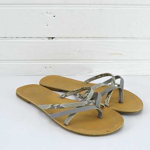 Atmosphere Snakeskin Print Faux Leather Sandals #150-2054