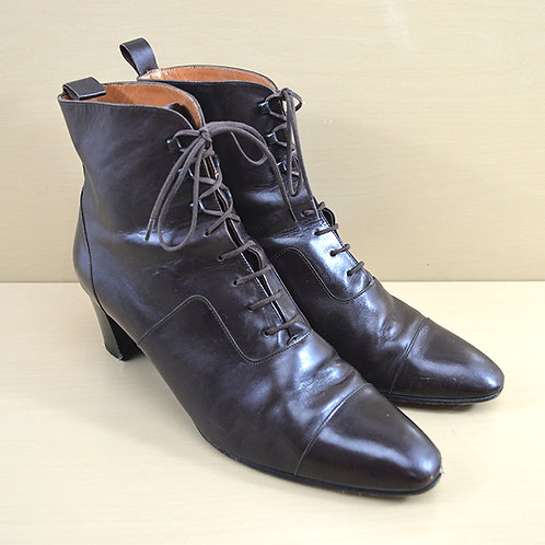 Robert Clergerie Leather Booties #170-39