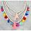 Thumbnail: Wood Fringe Necklace #150-3108
