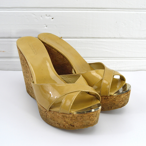 Jimmy Choo Patent Leather Wedges #177-13