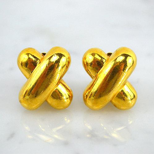 X Clip-On Earrings #176-36