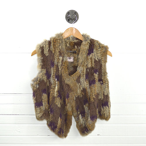 Antik Batik Multi-Color Fur Vest #147-16