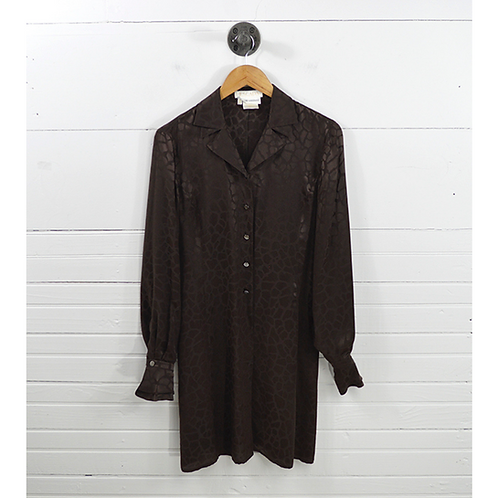 Escada Silk Print Long Line Blouse #170-110
