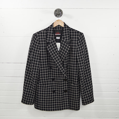 Genny Way Plaid Wool Blazer #154-31