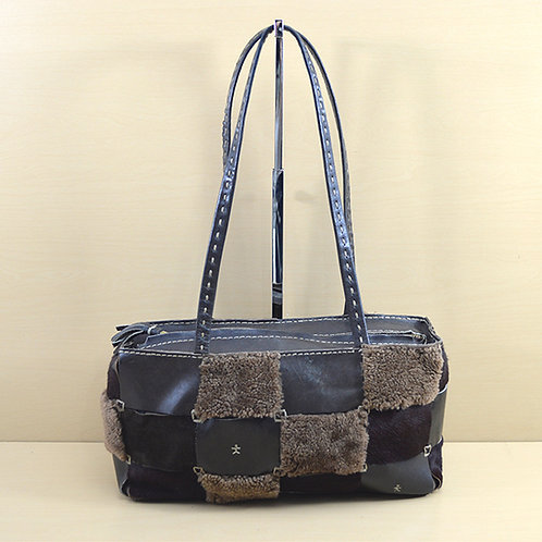 Henry Beguelin Shearling/ Leather Bag #170-180