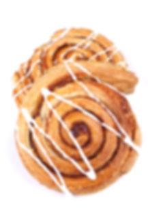 cinnamon danish isolated on white backgr