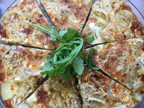 Easy new potato & onion frittata