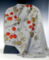 cashmere shawl grey cascading botanicals