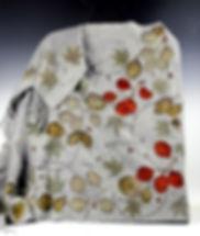 cashmere shawl grey w cascading botanica