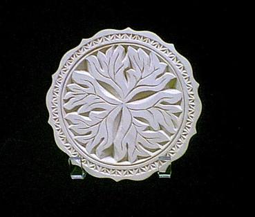 Chip carved leaf plate