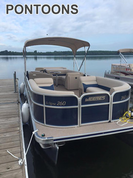 Pontoons are only reserved at the daily rate, we do not reserve for hourly rates  ALL PONTOONS MUST BE IN BY 6:00PM  Deluxe pontoons are higher quality Regular pontoons have more wear and tear  6 passenger Deluxe $70/hour $299 per day + tax  8 passenger Deluxe $80/hour $350 per day + tax  10 passenger $80/hour $350 per day + tax  10 passenger Deluxe $95/hour $450 per day + tax  12 passenger $95/hour $450 per day + tax  All rentals include life jackets and gas for the day.