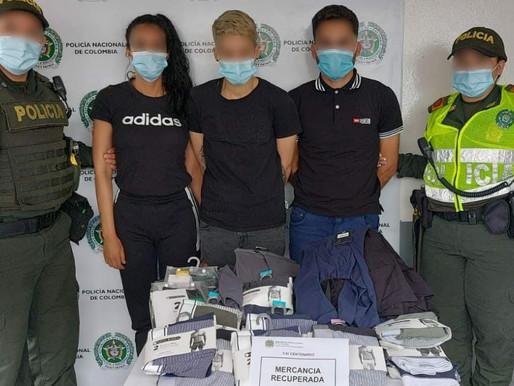 Capturan a tres extranjeros por robar en almacén céntrico de la ciudad